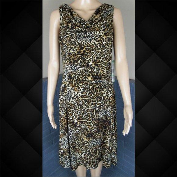 Jones Wear Dresses & Skirts - Jones Wear Leopard Print Dress Size 8